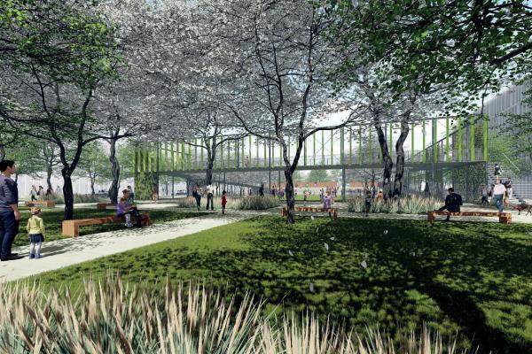 Visualisierung Brückenpark